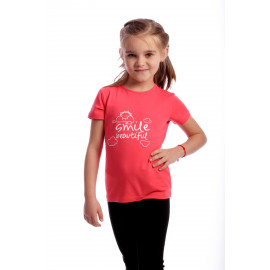 Tricou Happy Smile Kids Coral