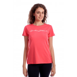 Tricou Free Text Casual Fit  Rose