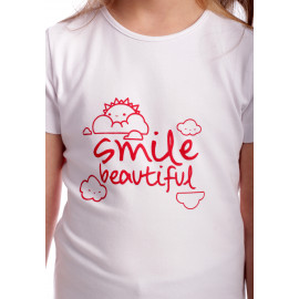 Tricou Happy Smile Kids Alb